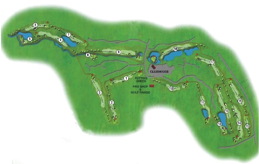 Map of Collingtree Park Golf Club